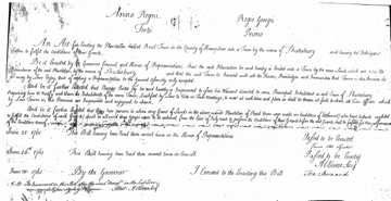 1761 Incorporation Document